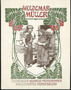 Woldemar Müller - Zeichnungen, Aquarelle, Photographien, Ansichtskarten,: Just, Johannes (Text):