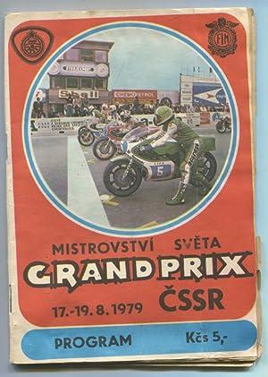 Program XXIX. Grand Prix CSSR. Mistrovstvi Sveta.: Motorrad: