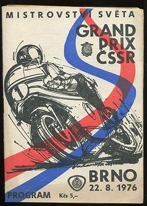 Program XXVI. Grand Prix CSSR. Mistrovstvi Sveta.: Motorrad: