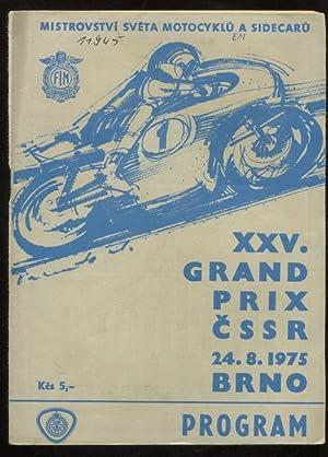 Program XXV. Grand Prix CSSR. Mistrovstvi Sveta.: Motorrad: