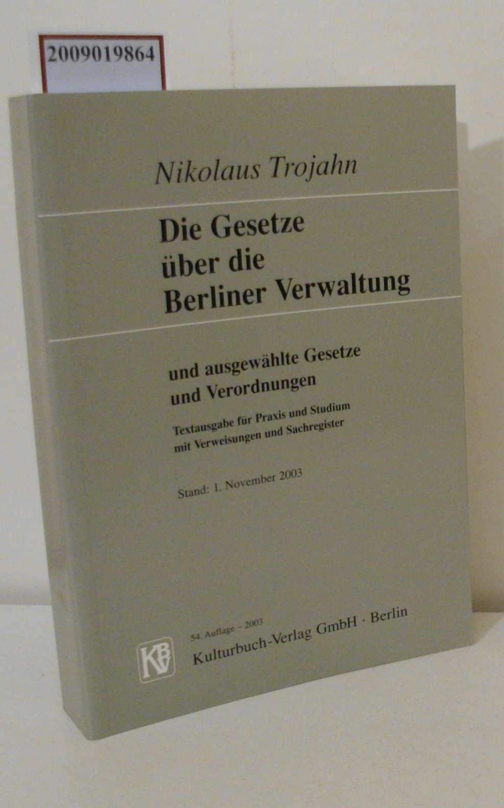 Berliner Gesetze