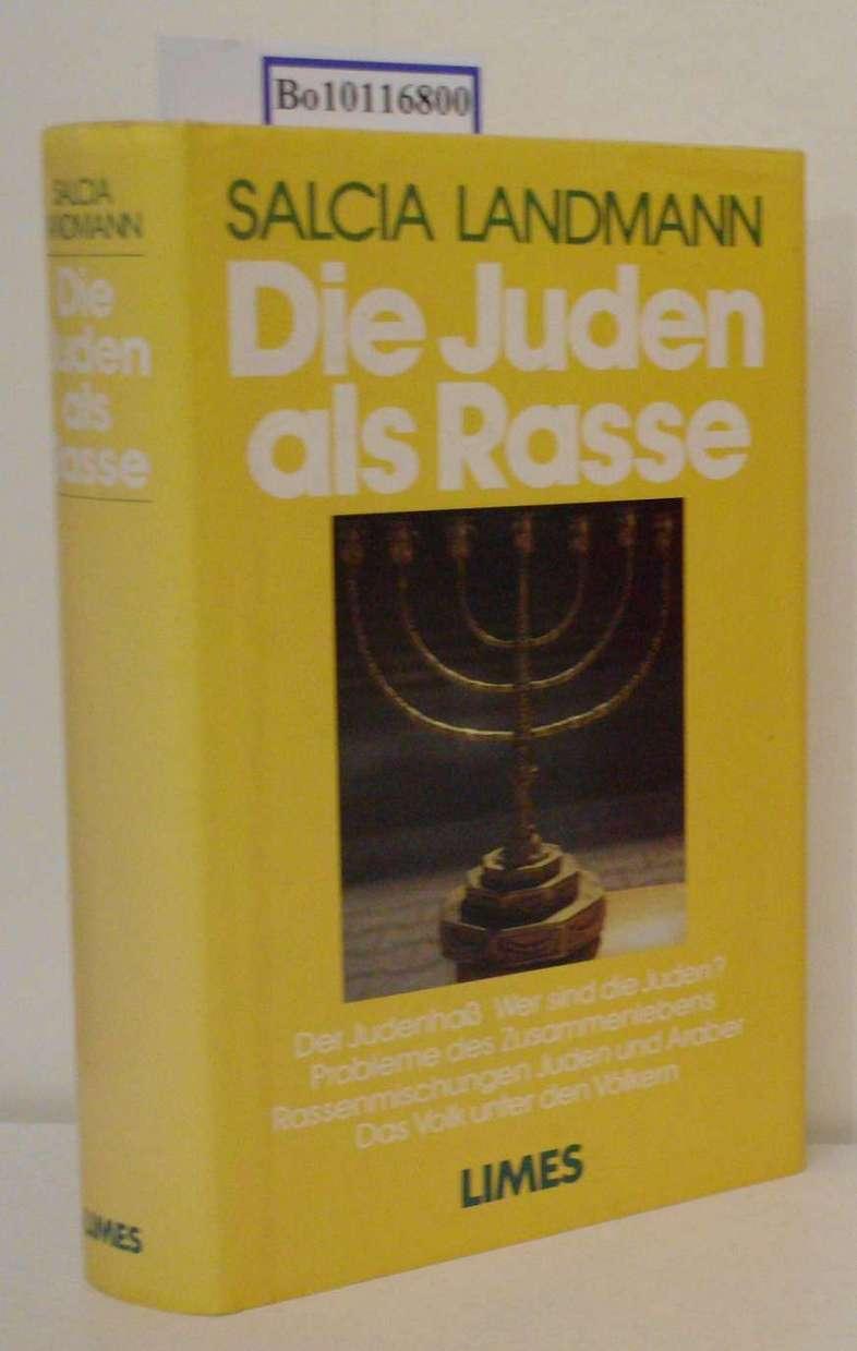 Die Juden als Rasse Salcia Landmann - Landmann, Salcia