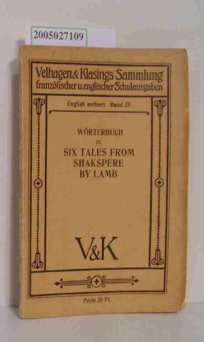 Wörterbuch zu Six tales from Shakespere: Lamb, Charles :