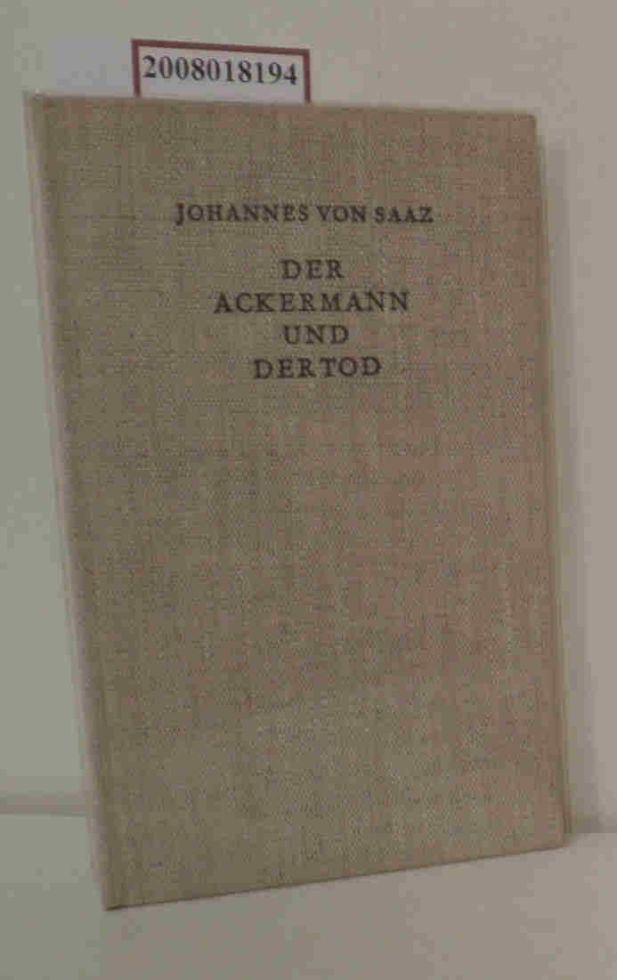 Der Ackermann und der Tod Übers. von: von Saaz, Johannes: