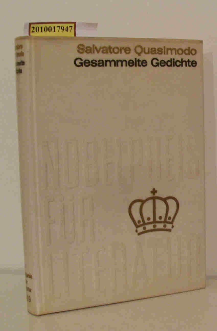 Gesammelte Gedichte Nobelpreis 1959 Italien / Salvatore: Quasimodo, Salvatore: