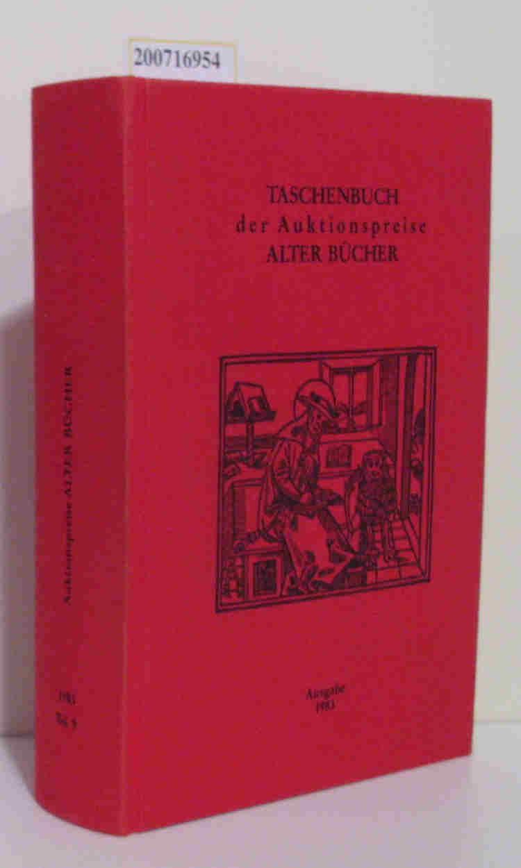 Taschenbuch der Auktionspreise alter Bücher