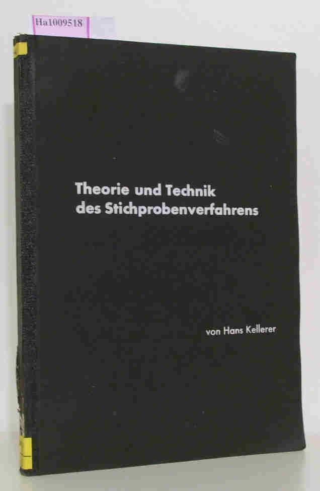 Theorie und Technik des Stichprobenverfahrens. Eine Einführung unter besonderer Berücksichtigung der Anwendung auf soziale und wirtschaftliche Massenerscheinungen. (= Einzelschriften der Deutschen Statistischen Gesellschaft. Nr. 5).