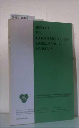 Bericht der Naturhistorischen Gesellschaft Hannover Band 126: C. H. v.