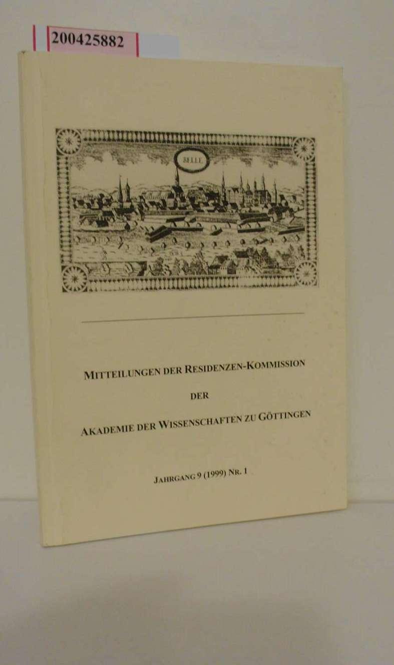 Mitteilungen der Residenzen-Kommission der Akademie der Wissenschaften: Hrsg.: