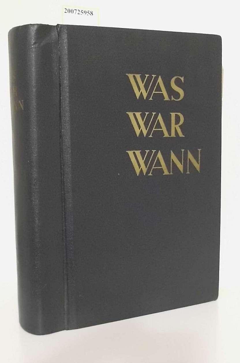Was War Wann