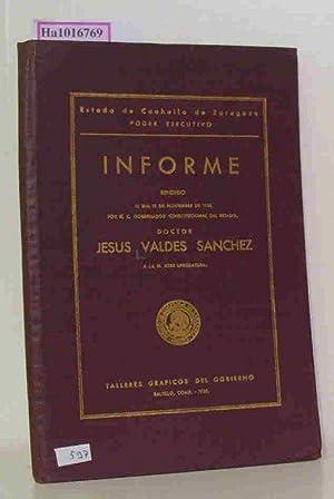 Informe rendido el dia 15 de noviembre: Valdes Sanchez, Jesus