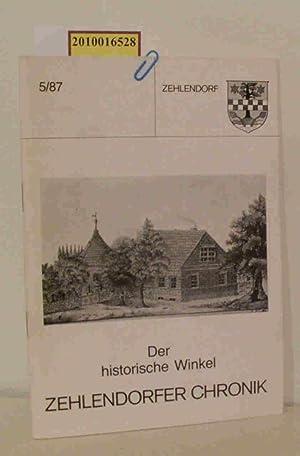 Zehlendorfer Chronik Der historische Winkel 5/87: Kurt Trumpa Hrsg.