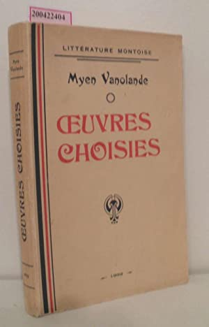 Ceuvres Choisies Litterature Montoise