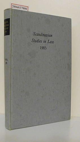 Scandinavian Studies in Law 1985 Volume 29: Anders Victorin :