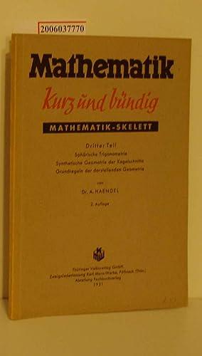 Mathematik kurz und bündig - Mathematik -: Dr. A. Haendel: