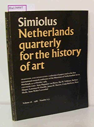 Simiolus. (=Netherlands quarterly for the History of: Hecht, P. et.