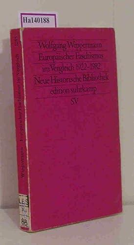 Europäischer Faschismus im Vergleich (1922-1982). (=Edition Suhrkamp,: Wippermann, Wolfgang: