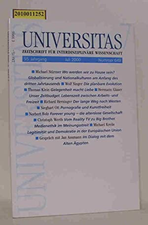 Universitas. Zeitschrift für interdisziplinäre Wissenschaft. 55. Jg./Nr.: Dr. Christian Rotta
