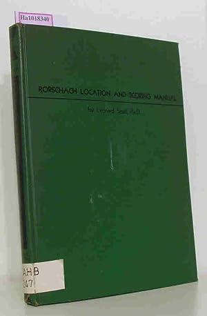 Rorschach Location and Scoring Manual.: Small, Leonard: