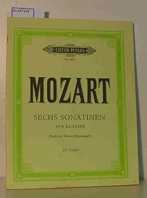 Sechs Sonatinen für Klavier zu zwei Händen.: Mozart, W.A. Volger,