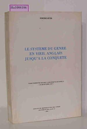 Le Systeme du Genre en Vieil Anglais: Wyss, Simone: