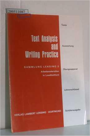 Text Analssis and Writing Practice Sammlung Lensing