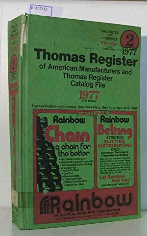 Thomas Register of American Manufacturers and Thomas: Thomas Publishing Company