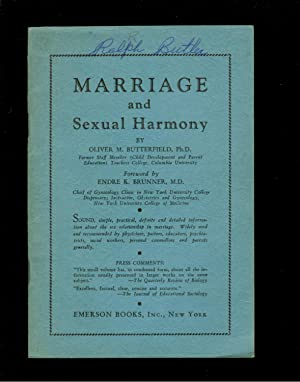Marriage and Sexual Harmony: Oliver McKinley Butterfield
