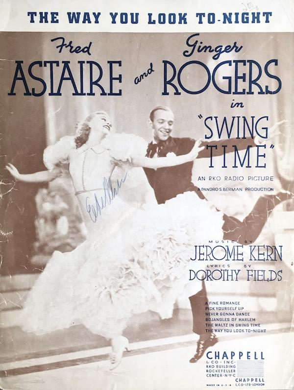 The Way You Look Tonight Fred Astaire And Ginger Rogers In Swing Time By Jerome Kern Dorothy Fields 1936 Sheet Nbsp Music Randall S Books