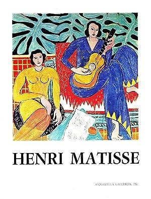 Henri Matisse (1869-1954) For the Benefit of: Clement Greenberg, Henri