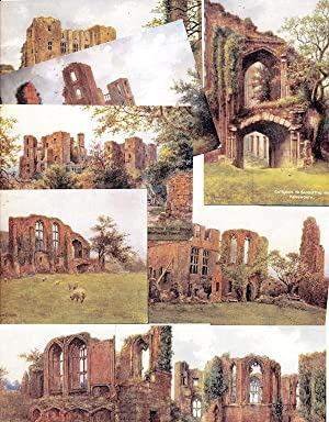 Group of 8 Vintage Postcards of Kenilworth Castle, Warwickshire, from watercolors by W. W. Quatre...