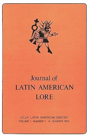 Journal of Latin American Lore: Volume 1,