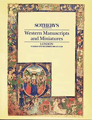 Western Manuscripts and Miniatures - London 6 December 1988 (Catalog Code: