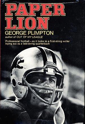 paper lion by george plimpton abebooks