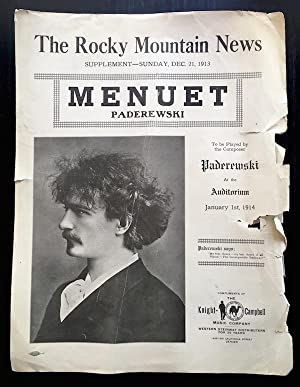 Menuet (Sunday Supplement to The Rocky Mountain News, Dec. 1913)