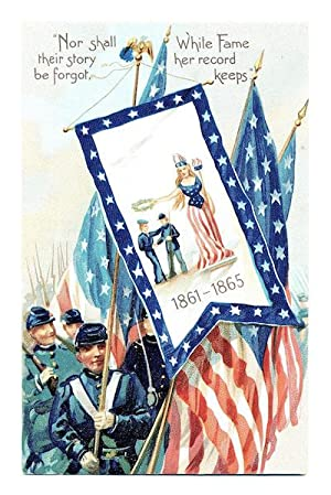 Vintage American Civil War Memorial Postcard