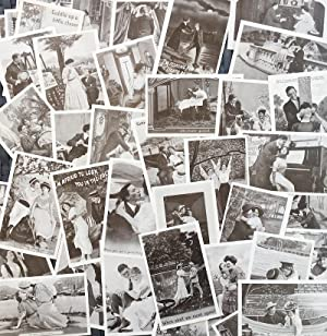 Collection of 50 Vintage Monochrome 'Courting' Postcards