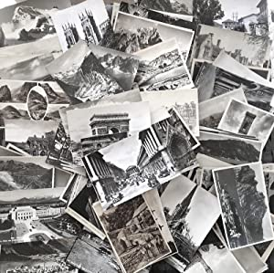 Collection of 200 Monochrome European Postcards featuring France, England, Scotland, Italy & Swit...