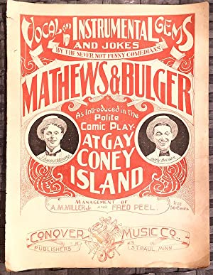Vocal And Instrumental Gems And Jokes By The Never Not Funny Comedians Mathews & Bulger, As Intro...