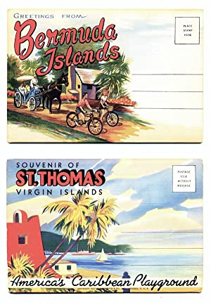 2 Vintage Folding Souvenir Mailers: 'Greetings From Bermuda Islands' & 'Souvenir Of St. Thomas, V...
