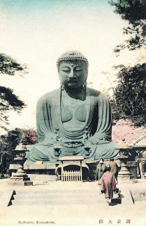 Vintage Japanese Postcard, early 20th Century - Daibutsu, Kamakura Temple