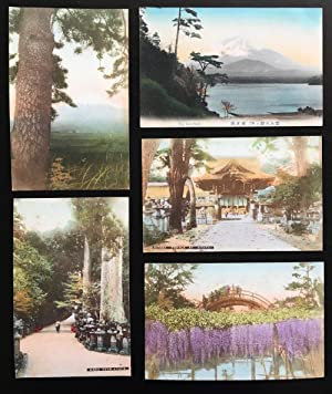 Group Of Five (5) Vintage Postcards from Japan