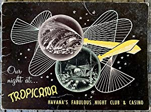 Our Night At Tropicana: Vintage mid-20th C. Group Portrait photo in souvenir sleeve from Havana C...