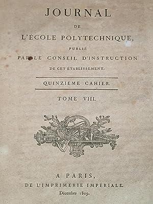 Journal de l'École royale polytechnique,Tome VIII, XVe: Pierre-Simon Laplace, S-D.