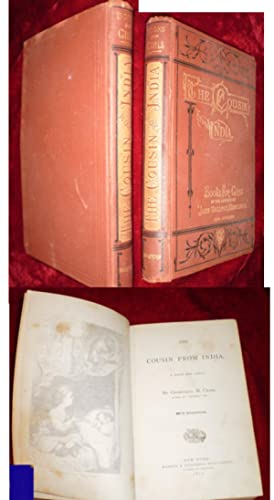 FIRST EDITION: The Cousin from India: A Book for Girls 1871 - Sweet Rust colored Gilt Victorian b...