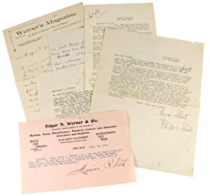 [Five Letters from Marion Short, Playwright, to Literary and Dramatic Publisher Edgar S. Werner &...
