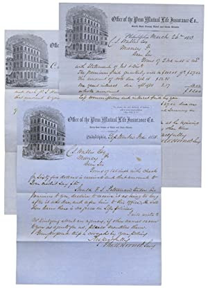 1849 to 1862 File of Documents and Letters; Some Pertaining to Future Abraham Lincoln Assassinati...
