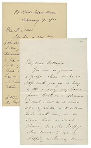 Two Autograph Letters Signed by Susan Coolidge, i.e. Sarah Chauncey Woolsey, Author