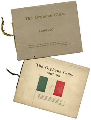 [Georgia - Women's Clubs - Music:] The Orpheus Club [Six Programs]