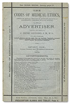 [Patent Medicine:] The Codes of Medical Ethics.and Advertiser